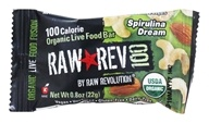 Raw Revolution - Organic Live Food Bar Raw Rev 100 Calorie Spirulina Dream - 0.8 oz. (formerly Spirlina and Cashew) - $0.69