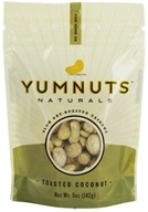 Yumnuts Naturals - Slow Dry-Roasted Cashews Toasted Coconut - 5 oz. by Yumnuts Naturals