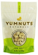 Yumnuts Naturals - Slow Dry-Roasted Cashews Sea Salt - 5 oz. by Yumnuts Naturals
