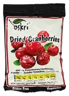 Oskri - Gluten-Free Dried Fruit Cranberries - 3.53 oz.