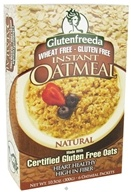 Glutenfreeda - Instant Oatmeal Natural 6 Packets - 10.5 oz.