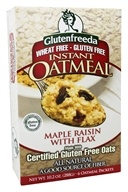 Glutenfreeda - Instant Oatmeal Maple Raisin with Flax 6 Packets - 10.5 oz. - $4.35