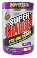 Labrada - Super Charge Xtreme Pre-Training Drink Mix Grape - 1.76 lbs.