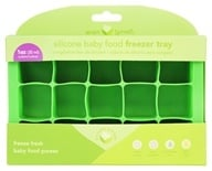 Image of i Play - Green Sprouts Silicone Baby Food Freezer Tray 15 x 1 oz. Cubes Green