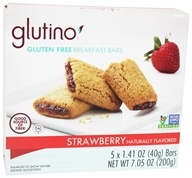 Glutino - Gluten Free Breakfast Bars Strawberry - 5 x 1.41 oz., from category: Health Foods