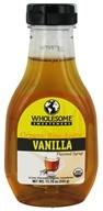 Wholesome Sweeteners - Organic Blue Agave Flavored Syrup Vanilla - 11.75 oz. CLEARANCE PRICED