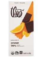 Image of Theo Chocolate - Classic Collection Organic Dark Chocolate 70% Cacao Orange - 3 oz.