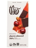 Theo Chocolate - Classic Collection Organic Dark Chocolate 70% Cacao Cherry & Almond - 3 oz.