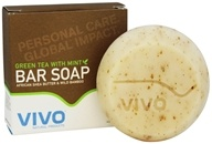 VIVO Natural Products - Moisturizing African Shea Butter Bar Soap Green Tea With Mint - 4.5 oz.