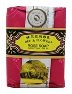 Image of Bee & Flower Soap - Bar Soap Rose - 4.4 oz.