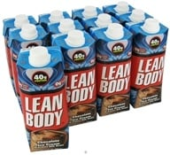 Labrada - Lean Body Hi-Protein Milk Shake RTD Chocolate Ice Cream - 17 oz. by Labrada