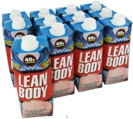 Labrada - Lean Body Hi-Protein Milk Shake RTD Strawberries & Cream - 17 oz. by Labrada