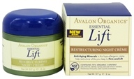 Avalon Organics - Essential Lift Restructuring Night Creme - 2 oz.