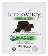 Tera's Whey - Organic Grass Fed Whey Protein Packet Fair Trade Dark Chocolate - 1 oz.