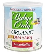 Formula di dha & ara lactorelief organica per bambini - 12.7 oz. by Baby's Only