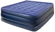 Pure Comfort - Queen Raised Air Bed With Flock Top 8501AB Blue by Pure Comfort