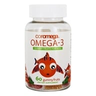 Coromega - Kids DHA Omega3 Gummy Fruits - 60 Gummies by Coromega