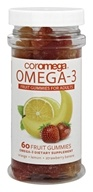Coromega - Omega-3 Fruit Gummies for Adults - 60 Gummies