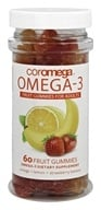 Coromega - DHA Omega3 Gummy Fruits for Adults - 60 Gummies, from category: Nutritional Supplements