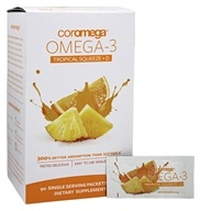 Image of Coromega - Omega 3 + D Squeeze Tropical Orange - 90 Packet(s)