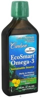 Carlson Labs - Norwegian EcoSmart Omega-3 Liquid Lemon Flavored - 6.7 oz. Formerly CalaOmega High DHA Omega-3 From Calamari