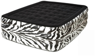 Pure Comfort - Queen Raised Air Bed With Flock Top 8508ZDB Zebra by Pure Comfort