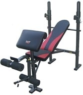 Pure Fitness - Multi-Purpose Weight Bench With Preacher Curl 8523MB Black/Red