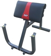 Pure Fitness - Preacher Curl Bench 8525PC Black/Red