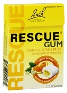 Image of Bach Original Flower Remedies - Rescue Remedy Chewing Gum Orange & Elderflower - 17 Piece(s)