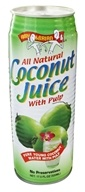 Amy & Brian - All Natural Coconut Juice With Pulp - 17.5 oz., from category: Health Foods