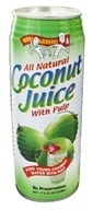 Image of Amy & Brian - All Natural Coconut Juice With Pulp - 17.5 oz.