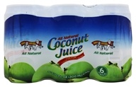 Image of Amy & Brian - All Natural Coconut Juice 6 x 10 oz. Cans - 6 Pack