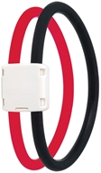 Image of Trion:Z - Dual Loop Lite Magnetic Ionic Bracelet Small Black/Red - CLEARANCE PRICED