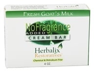 Herbalix Restoratives - Fresh Goat's Milk Cream Bar Soap No Added Fragrance - 4 oz., from category: Personal Care