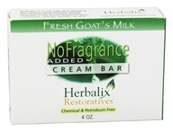 Herbalix Restoratives - Fresh Goat's Milk Cream Bar Soap No Added Fragrance - 4 oz.