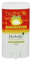 Herbalix Restoratives - Deodorant Travel Size Tropical Cove - 0.47 oz. CLEARANCE PRICED by Herbalix Restoratives