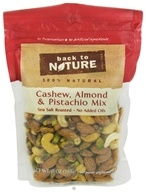 Back To Nature - Trail Mix Cashew, Almond & Pistachio Mix Sea Salt Roasted - 10 oz. CLEARANCE PRICED