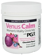 Natural Factors - Balanced Planets Venus Calm Women's Vitality Drink Mix With PGX Chocolate Flavor - 6 oz.