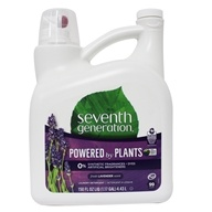 Seventh Generation - Natural 2x Concentrated  Liquid Laundry Detergent 99 Loads Blue Eucalyptus & Lavender - 150 oz.