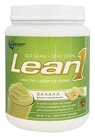 Image of Nutrition 53 - Lean1 Performance Shake Banana Cream - 1.7 lbs.