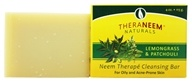 Organix South - TheraNeem Organix Cleansing Bar For Oily & Acne-Prone Skin Lemongrass & Patchouli - 4 oz.