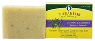 Organix South - TheraNeem Organix Cleansing Bar Botanical Oatmeal & Lavender - 4 oz. (666183000123)