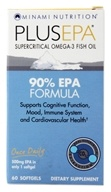 Minami Nutrition - PlusEPA Supercritical Omega-3 Fish Oil 500 mg. - 60 Softgels, from category: Nutritional Supplements