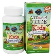 Garden of Life - Vitamin Code Kids Whole Food Multivitamin Cherry Berry - 60 Chewables by Garden of Life