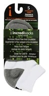 Image of Incredisocks - Bamboo Charcoal Socks Below Ankle Sports Small White