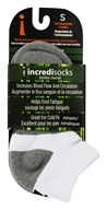 Incredisocks - Bamboo Charcoal Socks Below Ankle Sports Small White by Incredisocks