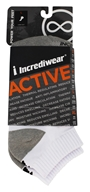 Incredisocks - Bamboo Charcoal Socks Below Ankle Sports Large White by Incredisocks