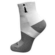 Incredisocks - Bamboo Charcoal Socks Above Ankle Sports Large White by Incredisocks