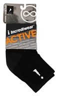 Incredisocks - Bamboo Charcoal Socks Above Ankle Sports Large Black (891709000381)