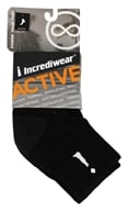 Image of Incredisocks - Bamboo Charcoal Socks Above Ankle Sports Large Black